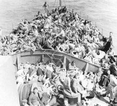 A party of rather young and very determined Jews sailing to British-held Palestine to start a new life there - 1946.