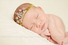 Golden Tiara Rhinestone Headband Newborn Pictures, Baby Photos, Newborn Pics, Rhinestone Headband, Crown Headband, Tiaras And Crowns, Baby Crowns, Baby Couture, How To Have Twins