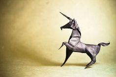 Animais maravilhosos feitos de origami do artista Gonzalo Calvo