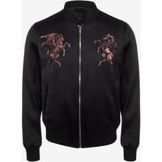 Embroidered bomber jacket mens