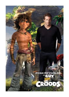 """Dreamworks Animation's New Voice: Ryan Reynolds in """"The Croods"""" Animated Movie Posters, Animated Cartoons, Cartoon Movies, Disney Movies, Disney Pixar, Estilo Disney, Fox Pictures, Dreamworks Animation, Movie Lines"""