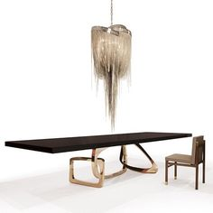 10 Gorgeous Black Dining Tables for Your Modern Dining Room | See more at http://moderndiningtables.net/2016/03/02/10-gorgeous-black-dining-tables-modern-dining-room/