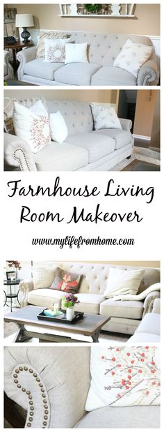 A new farmhouse living space   farmhouse style   decor   couches   sofas   family rooms   new furniture   living spaces