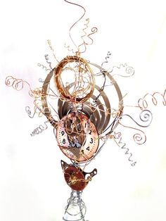 Steampunk Tree Topper by MelsMakeBelieve on Etsy, $52.67