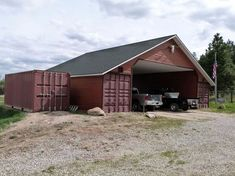 shipping container barn