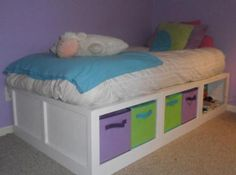 possible bed for the girls room. would prefer hidden storage-maybe?