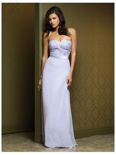 2015 A-line Sweetheart Floor Length Bridesmaid Dress Miasolano MB1002