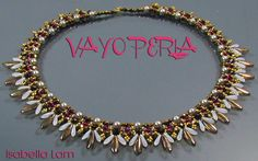 VAYO PERLA SuperDuo Beadwork Necklace Pdf tutorial instructions for personal use only. $10.00, via Etsy.