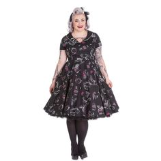 Cherry Pop by Hell Bunny is a sweet and sassy swing dress with a 50s classic, red cherries print! FREE shipping on orders over $100!