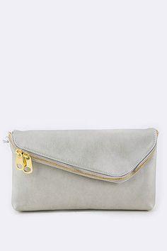 Envelope Clutch - Silver – Monica's Closet Essentials