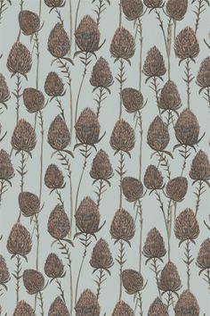 Rosemary Milner, pattern, colour, thistle, illustration, fabric