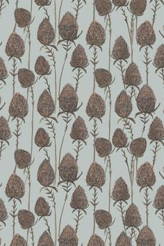 Rosemary Milner, pattern, colour, thistle, illustration, fabric