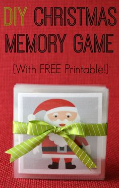This free printable makes it easy to make your own Christmas memory game - just print, cut, and laminate! Christmas Activities For Kids, Christmas Games, Christmas Holidays, Crafts For Kids, Holiday Crafts, Holiday Ideas, Christmas Ideas, Calendar 2014, Advent Calendar