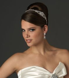 USABRIDE WEDDING TIARA BRIDAL HEADBAND WITH RHINESTONE 791 - Click image twice for more info - See a larger selection of  bridal hair accessories - woman. woman fashion, wedding , wedding fashion , wedding style,  bridal hair accessories.