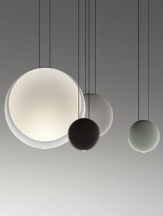 Cosmos: spheres of light that float suspended in the air - Vibia lamp designed by Lievore Altherr Molina. Love this suspension lamp. Lighting Store, Home Lighting, Modern Lighting, Lighting Design, Pendant Lighting, Pendant Lamps, Modern Lamps, Light Fittings, Light Fixtures