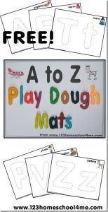 printable alphabet playdough mats