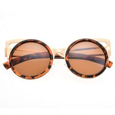 818e9d559c3b Lady Women s Retro Charming Round Lens Hollow Out Full Frame Sunglasses