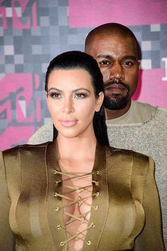 Kim Kardashian & Kanye West at the 2015 MTV Video Music Awards