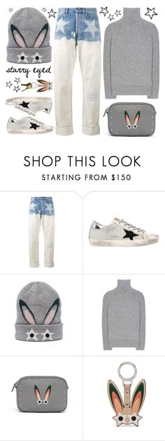 """""""Starry Eyed"""" by leslee-dawn ❤ liked on Polyvore featuring Faith Connexion, Golden Goose, MCM, Haider Ackermann, Bunny, stars, mcm, goldengoose and StarOutfits"""