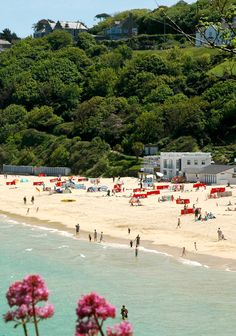 Porthminster Beach in St. Ives Cornwall - White sands lapped by azure seas – St Ives' Porthminster Beach is among Britain's best Cornwall England, St Ives Cornwall, Devon And Cornwall, West Cornwall, British Beaches, British Seaside, Uk Beaches, British Isles, St Ives Beach