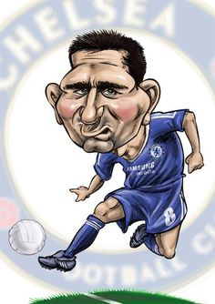 Caricature of Frank Lampard