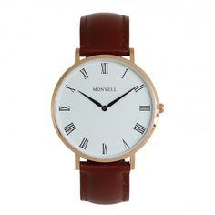 Wenn Du ein Individualist bist, dann ist diese Armbanduhr genau die Richtige für Dich. Du brauchst keine Multifunktions- oder Digitaluhren. Solche Spielereien passen nicht in Dein Leben. Mit der Grand Paradiso Armbanduhr bekommst Du zeitlose Klassik. Ein übersichtliches Ziffernblatt in Weiß, eine goldfarbene Lünette und ein braunes Lederarmband, was mit der Zeit noch schöner wird. Das ist die Kombination, die in Dein Leben passt. Gold, Watches, Leather, Accessories, Fashion, Digital Clocks, Bracelet Watch, Life, Nice Asses