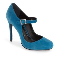 Women's Charles By Charles David 'Lava' Mary Jane Pump ($66) ❤ liked on Polyvore featuring shoes, pumps, dark teal suede, strappy pumps, retro pumps, stiletto pumps, t-strap mary janes and mary-jane shoes