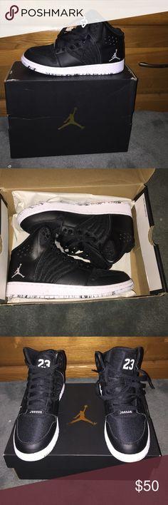 NEVER WORN JORDAN 1 flight Never worn!!! Xmas gift! Black gradeschool size 7 Jordan 1 flight Shoes Sneakers