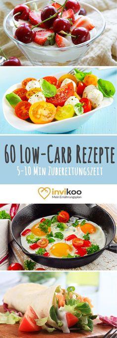 Einfach und schnell abnehmen mit diesen abwechslungsreichen und gesunden Low-Carb Rezepten von invikoo.de - Einfach, lecker & gesund!