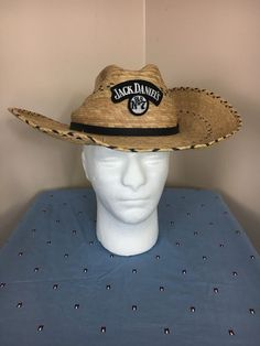 755f40c22fc Jack Daniels Cowboy Hat - Straw Hat wicker Size Medium  fashion  clothing   shoes  accessories  mensaccessories  hats (ebay link)
