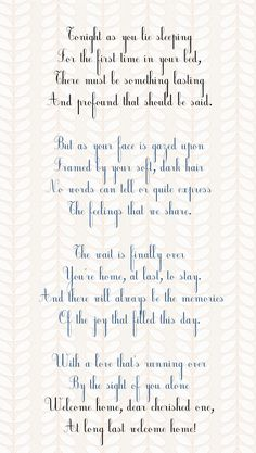 This was the poem I used in the adoption announcement for my son. Expresses the feelings of joy and wonder when you actually get to hold your new child.