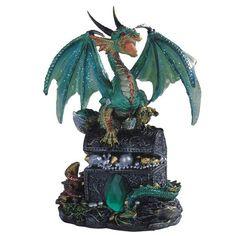 Hatchling Treasures Dragons  set of 4 Crystal Balls Fantasy Figurines