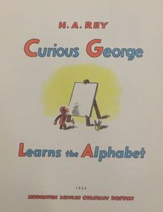 Curious George Learns the Alphabet (1963) Title page