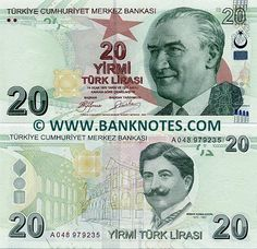 Turkey 20 Lira 2009 Obverse: Effigy of President Mustafa Kemal Atatürk… Turkish Lira, Money Notes, Saving For Retirement, Effigy, How To Get Rich, Three Dimensional, Istanbul, Nostalgia, Turkey