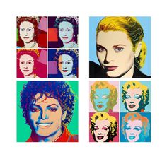 Andy Warhol Glass Tile Coasters. Marilyn Monroe, Michael Jackson, Soup Cans, Elizabeth Taylor, Jackie O, Etc by AllTheRageStudio on Etsy