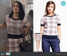 Brooks Brothers Merino Wool Plaid Sweater and Skirt worn by Camila Mendes on Riverdale Veronica Lodge Fashion, Veronica Lodge Outfits, Riverdale Veronica, Riverdale Fashion, High School Fashion, Cool Outfits, Fashion Outfits, Business Fashion, Types Of Fashion Styles