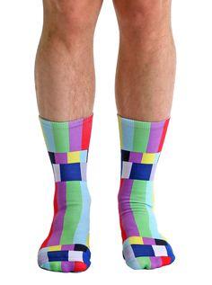 TV Warning Crew Socks