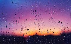 Water drops on the window wallpaper