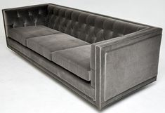 I love this design - so crisp and masculine!  Dunbar Tuxedo Sofa - Edward Wormley image 7