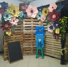 Rustic Florals (diy Paper Flower) decoration, our 22 Church Birthday