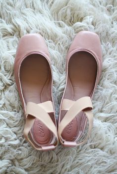 Chloe ballet flats with straps.  I love them