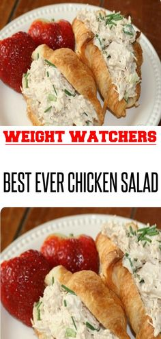Best Ever Chicken Salad - Weight watchers - Salat Weight Watchers Salat, Plats Weight Watchers, Weight Watchers Meals, Ww Recipes, Cooking Recipes, Healthy Recipes, Cooking Games, Family Recipes, Lunch Recipes