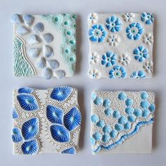 💙 Blue tiles to match the colour of the sky today, what a welcome relief after days of thick fog 🌫🌫☁️🌥⛅️🌤☀️🌞☀️🌞☀🌊🐟🌴🐚🏄🏼💙🌊 #porcelain #paperclay #ceramics #Etsyseller #homedecor #contemporaryceramics  #handmadeceramics #crafts #oceaninspired #natureinspired #nature #texture #oneofakind #seatreasures #PIAtexture #instapottery #commission #pottery  #irishceramics #ceramicart #etsy #art_we_inspire  #handbuiltceramics #makersmovement #homeaccessories #interiordecor #oceanliving…