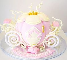 Carriage Cake on Pinterest | Cinderella Cakes, Baby Carriage Cake and ...