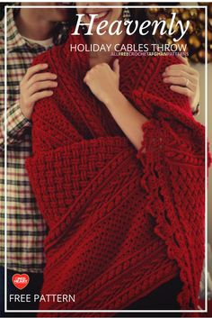 Cozy afghan - hard to believe it's crochet! These cables are absolutely lovely.