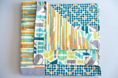 Modern baby quilt Baby quilt Handmade quilt by RedThreadGifts, $95.00