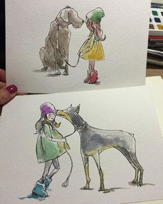 #dog #doberman #art #illustration #watercolor #artpavo