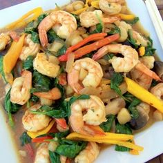 Asian Shrimp and Spinach Stir Fry Recipe on Yummly