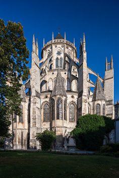 Cathedrale de Bourges, Bourges, France   Photothèque Arnaud Frich   Chevet de la cathédrale de Bourges