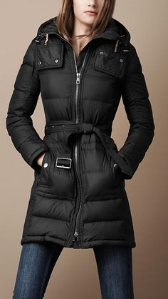 DKNY Hooded Faux-Fur-Trim Quilted Long-Length Down Coat - Coats ...